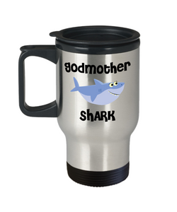 Be My Godmother Proposal Gifts Shark Mug Travel Coffee Cup