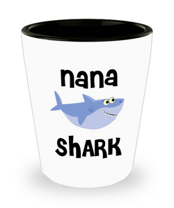 Nana Shark Do Do Do Gift Idea Birthday Gifts for Nanas Ceramic Shot Glass
