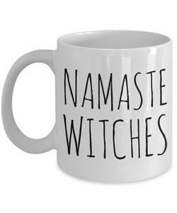 Namaste Witches Mug Funny Halloween Ceramic Coffee Cup Witch Inspired Gifts