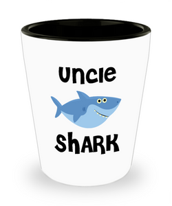 Uncle Shark Do Do Do Gift Idea Birthday Gifts for Uncles Ceramic Shot Glass