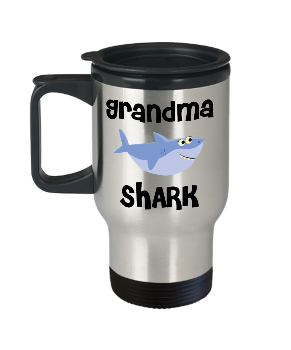 Grandma Shark Mug Grandma Gifts Do Do Do Gifts for Grandmas Stainless Steel Insulated Travel Coffee Cup