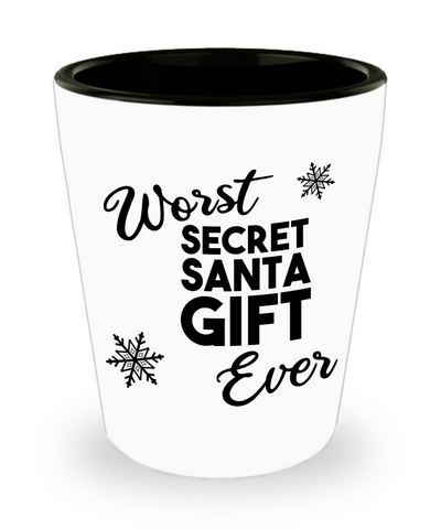 Secret Santa Gifts Funny Christmas Holiday Gift Exchange Idea Under 20 White Elephant Coworker Gift for Men Women Shot Glass