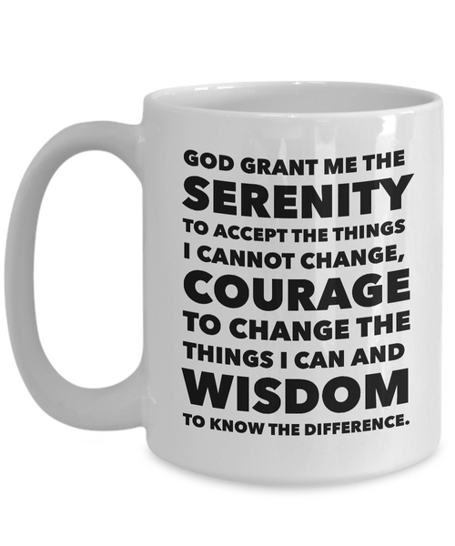 Serenity Prayer Ceramic Coffee Mug-Cute But Rude