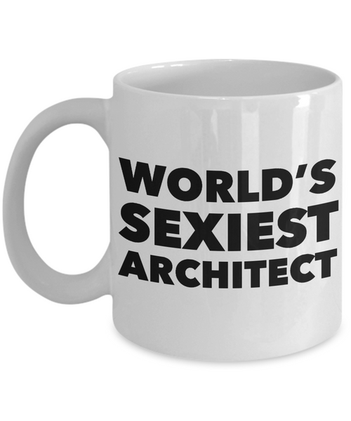 World's Sexiest Architect Mug Ceramic Coffee Cup Gifts for Architects-Cute But Rude
