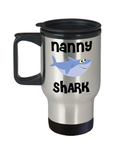 Best Nanny Ever Gifts Shark Mug Travel Coffee Cup