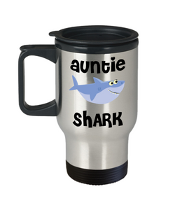 Auntie Shark Travel Mug Aunty Gifts Do Do Do Gifts for Aunties Stainless Steel Insulated Coffee Cup