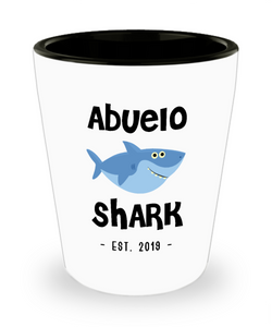 Abuelo Shark Mug New Abuelo Est 2019 Do Do Do Expecting Abuelos Pregnancy Reveal Announcement Gifts Ceramic Shot Glass