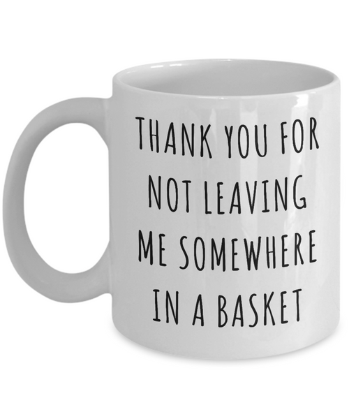 Mother's Day Mug Thank You for Not Leaving Me Somewhere in a Basket Funny Coffee Cup-Cute But Rude