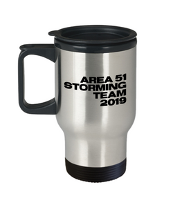 Area 51 Storming Team 2019 Mug Funny Alien Stainless Steel Insulated Travel Coffee Cup Gag Gift