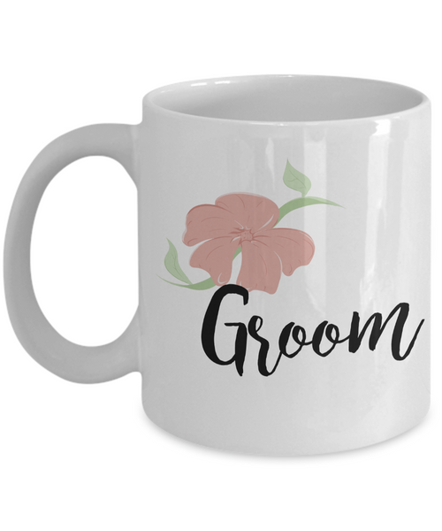Wedding Mugs - Groom Mug - Bride and Groom Mugs - Flower Coffee Mug-Cute But Rude
