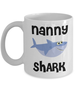 Best Nanny Ever Gifts Shark Mug Coffee Cup