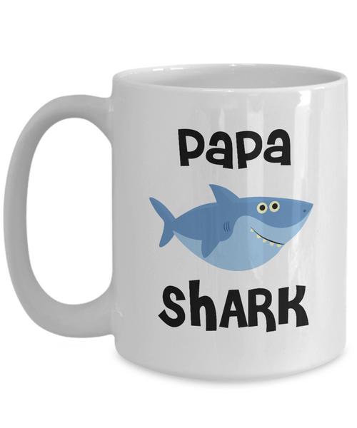 Papa Shark Mug Do Do Do Coffee Cup Papa Birthday Gift Idea Gifts for Papas