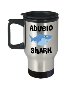 Abuelo Shark Mug Abuelo Birthday Gift Idea Do Do Do Gifts for Abuelos Stainless Steel Insulated Travel Coffee Cup