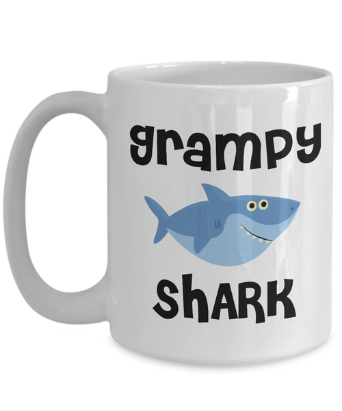 Grampy Shark Mug Do Do Do Coffee Cup Grampie Birthday Gift Idea Gifts for Grampies