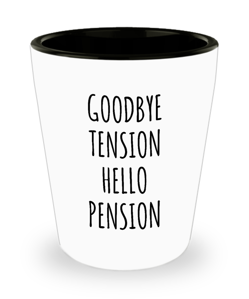 Retirement Gift For Coworker Boss Retiring Gift for Retired Dad Mom Funny Ceramic Shot Glass