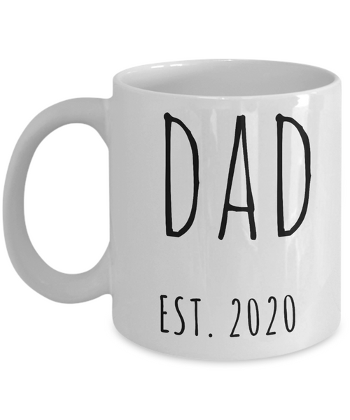 New Dad Est 2020 Mug Expecting Dad Baby Shower Gifts for New Parents Father's Day Mugs