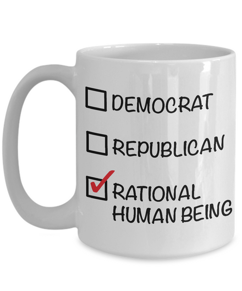 Political Gifts - Libertarian - Political Parties - Political Junkie - Rational Human Being Funny Coffee Mug-Coffee Mug-HollyWood & Twine