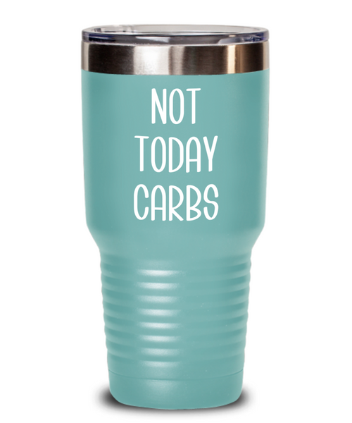 Keto Tumbler Coffee Mug Weight Loss Gifts Fitness Gift Ideas Not Today Carbs Diet Travel Cup BPA Free
