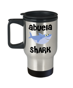 Abuela Shark Mug Abuela Gifts Do Do Do Birthday Gifts for Abuelas Stainless Steel Insulated Travel Coffee Cup