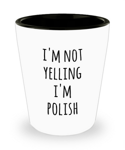 Polish Shot Glass I'm Not Yelling I'm Polish Funny Shot Glasses Gag Gifts for Men and Women