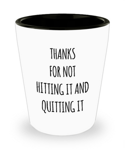 Father's Day Gifts Funny Dad Gifts From Son Daughter To Dad Father Gifts Dad Ceramic Shot Glass Thanks For Not Hitting It And Quitting It