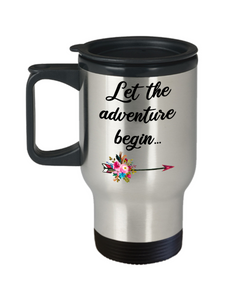 Graduate Mug Graduation Gift Congratulations Insulated Travel Coffee Cup Gift for Graduate College Student Let the Adventure Begin