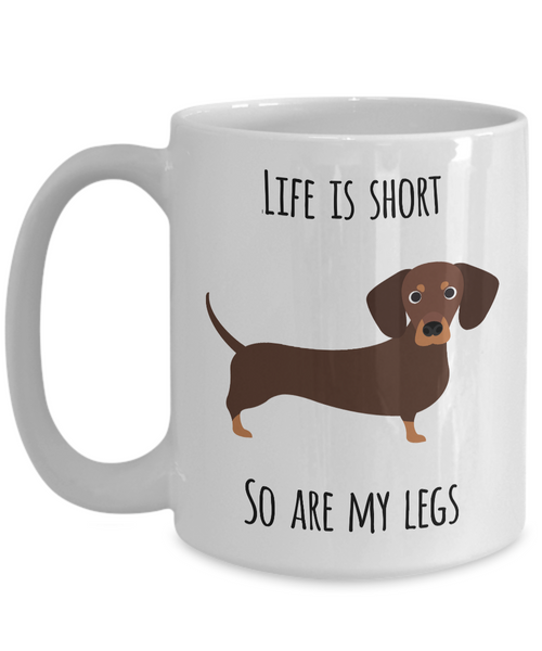 Funny Dachshund Coffee Mug - Dachshund Gifts for Men and Women - Gifts for Dachshund Lovers - Wiener Dog Mug-Coffee Mug-HollyWood & Twine