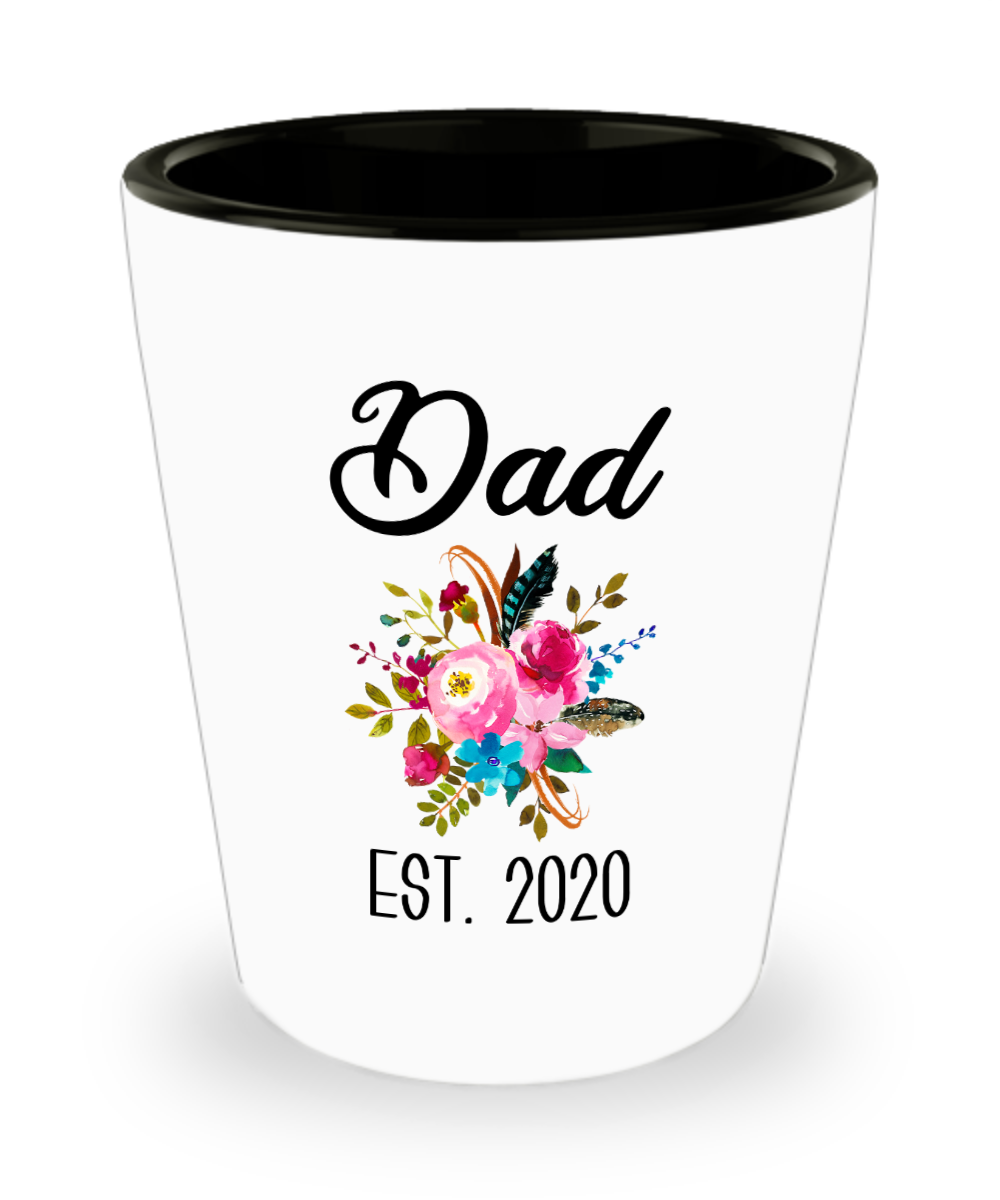 New Dad Gifts Expecting Daddy to Be Baby Shower Gift Pregnancy Announcement Dad Est 2020 Ceramic Shot Glass