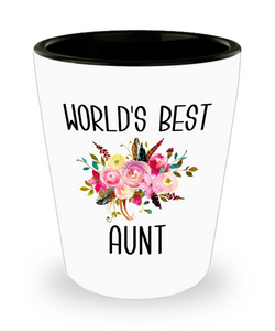 Best Aunt Ever Shot Glass for World's Best Aunt Gift from Niece New Aunt Gift
