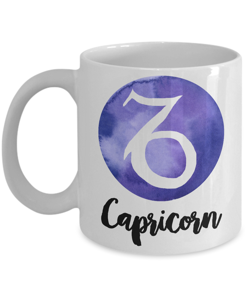 Zodiac Capricorn Horoscope Coffee Mug - Astrology Gift - Metaphysical, Celestial, Astrology, Horoscopes-Coffee Mug-HollyWood & Twine