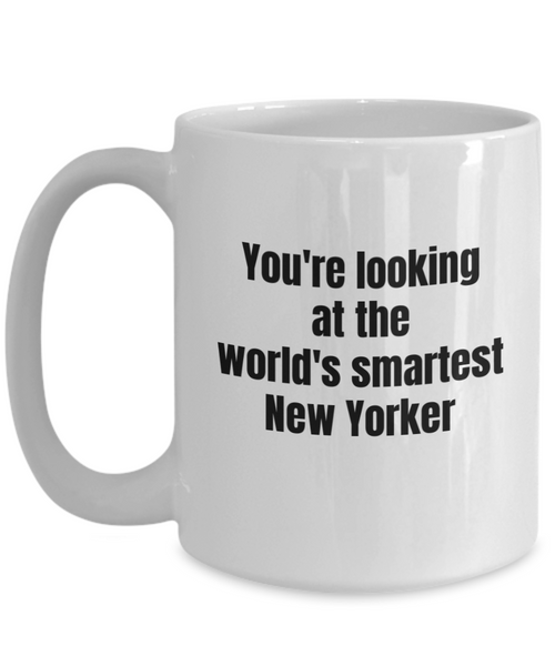 New York Coffee Mug - You're Looking at the World's Smartest New Yorker Ceramic Coffee Cup-Coffee Mug-HollyWood & Twine
