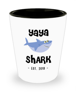 Yaya Shark Mug New Yaya Est 2019 Do Do Do Expecting Yayas Pregnancy Reveal Announcement Gifts Ceramic Shot Glass