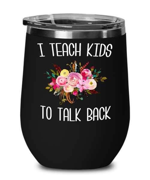Speech Therapist Gifts SLP Wine Tumbler Gift for Speech Language Pathologist SLP Therapy Tumbler Floral Insulated Hot Cold Cup BPA Free