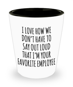 Boss's Day Gift for Boss Office Humor Happy Bosses Day Funny Sarcastic Ceramic Shot Glass