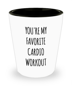 Boyfriend Gifts Funny Husband Gifts for Valentine's Day You're My Favorite Cardio Ceramic Shot Glass