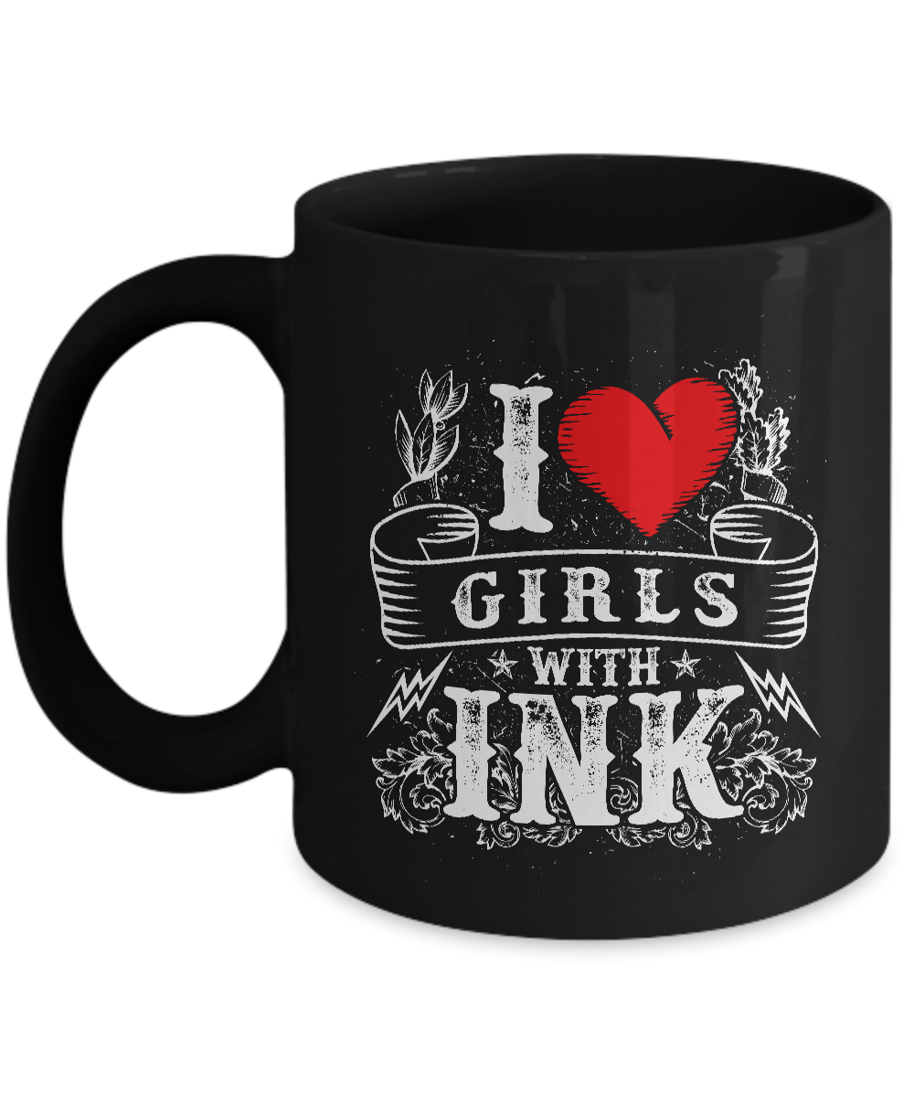 Tattoos - Tattooing - Tattoo Gifts - I Love Men with Ink Coffee Mug-Cute But Rude