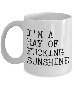I'm a Ray of Fucking Sunshine Rude Coffee Mug Ceramic Coffee Cup-Coffee Mug-HollyWood & Twine