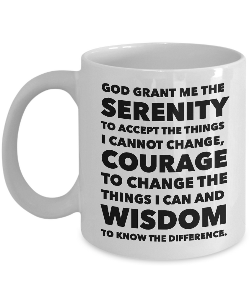 Serenity Prayer Ceramic Coffee Mug-Coffee Mug-HollyWood & Twine