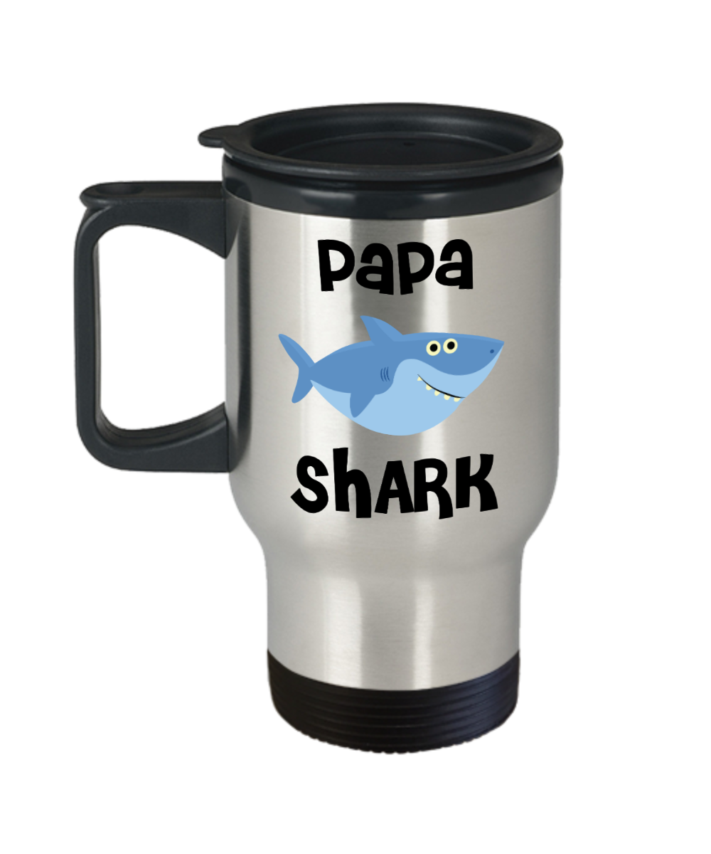 Papa Shark Mug Papa Gifts Do Do Do Gifts for Papas Stainless Steel Insulated Travel Coffee Cup