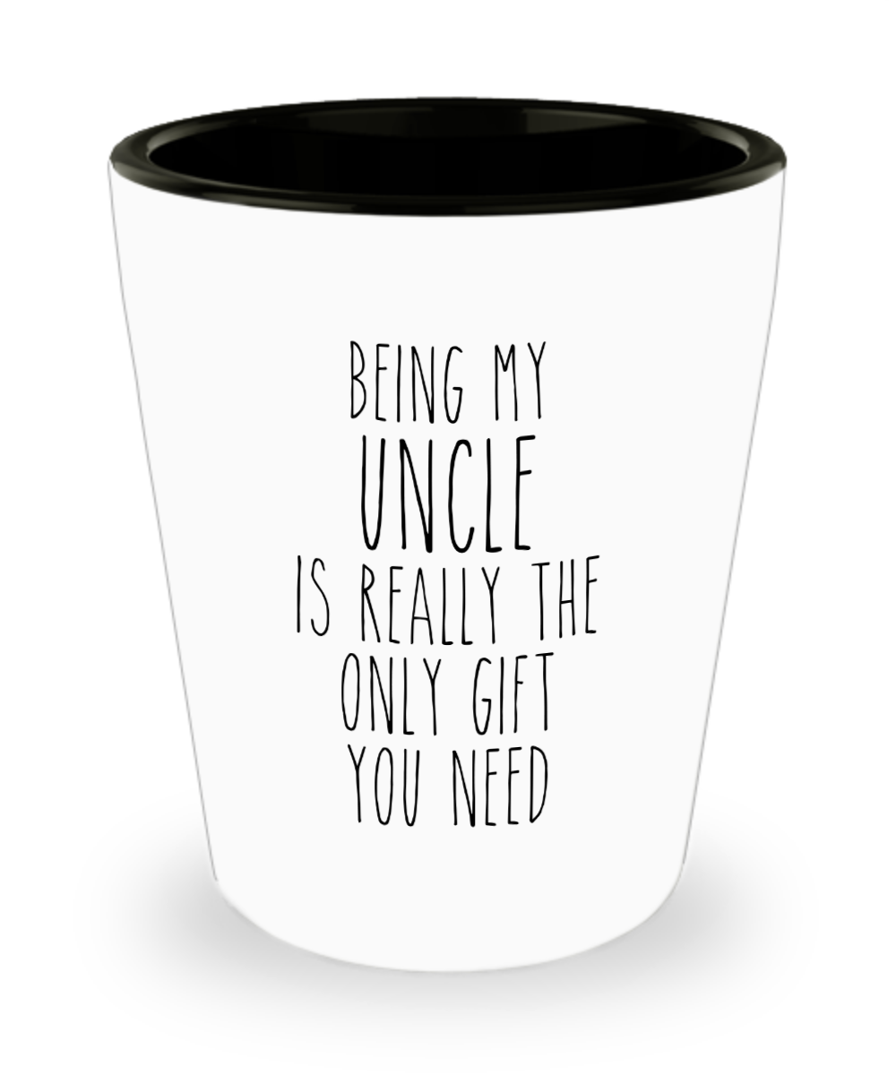 Funny Uncle Gift for Uncles from Niece or Nephew Best Uncle Ever Birthday Present Shot Glass
