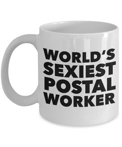 World's Sexiest Postal Worker Mug Retirement Gifts Ceramic Coffee Cup-Cute But Rude