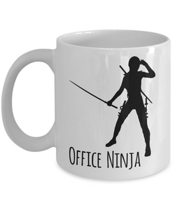 Office Ninja Mug 11 oz. Ceramic Coffee Cup Office Manager Gift Administrative Assistant Gift-Cute But Rude