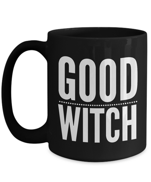Good Witch Gift - Witches Brew Coffee Mug - Black Mug for Witches-Cute But Rude