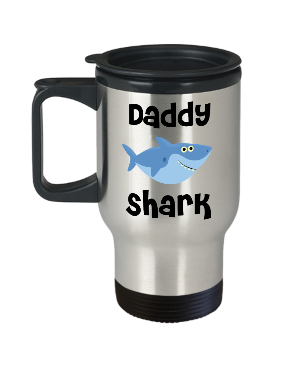Daddy Shark Mug Daddy Gifts Do Do Do Gifts for Daddies Stainless Steel Insulated Travel Coffee Cup Father's Day Present