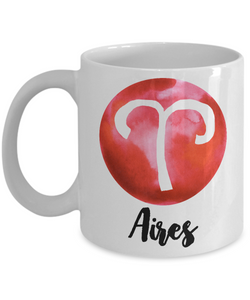 Zodiac Aires Horoscope Coffee Mug - Astrology Gift - Metaphysical, Celestial, Astrology, Horoscopes-Cute But Rude