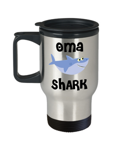 Oma Shark Mug Oma Gifts Do Do Do Gifts for Omas Stainless Steel Insulated Travel Coffee Cup