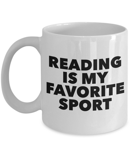 Gifts for Readers - Reading is My Favorite Sport Mug Ceramic Coffee Cup-Coffee Mug-HollyWood & Twine