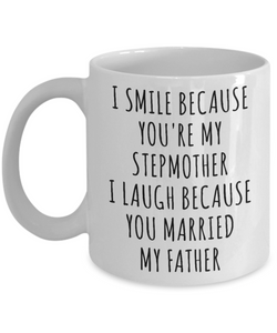 Stepmom Mug Stepmother Gift Idea Stepmom Gifts for Stepmoms Funny Coffee Cup-Cute But Rude