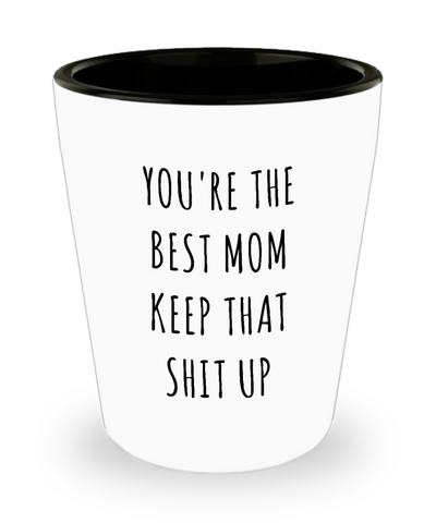 Funny Mom Gifts Gift Idea For Mom You're The Best Mom Keep It Up Mom Ceramic Shot Glass Gag Gift for Mom Birthday Present