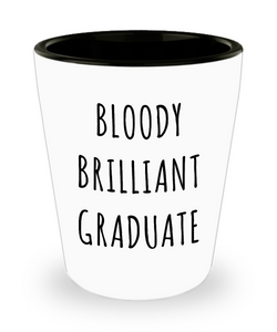 Graduation Gifts for Him or Her Brilliant Graduate Mug Funny Ceramic Shot Glass-Cute But Rude